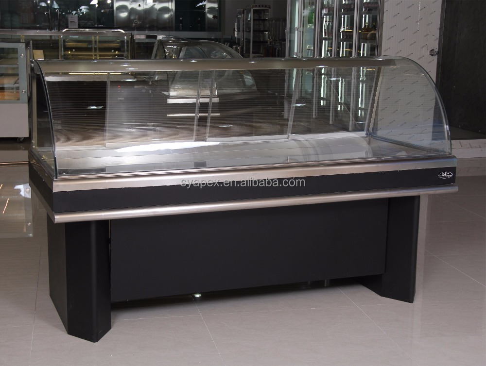 APEX custom make supermarket or restaurant commmercial cooked ham display counter