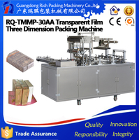 automatic Cosmetic Box Cellophane Packing Machine/ soap box cellophane wrapping machine