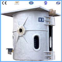 Convenient to tilt and pour induction recycle plant aluminum melting furnace