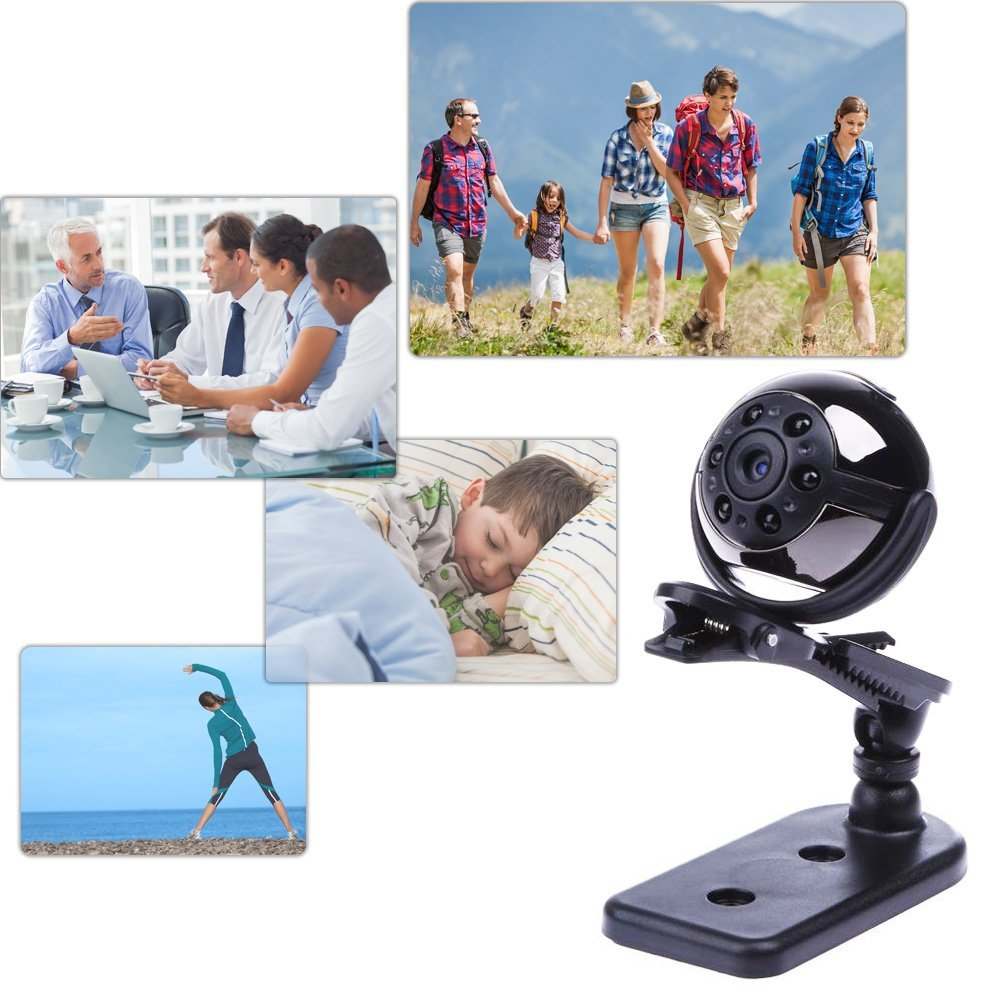 1080P Infrared Night Vision Mini DV 360 Degree Rotation Spy Hidden Camera Voice Video Recorder Car DVR Home Security DV PQ191