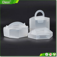 Extension Storage Clear Plastic Triangle Cake Box