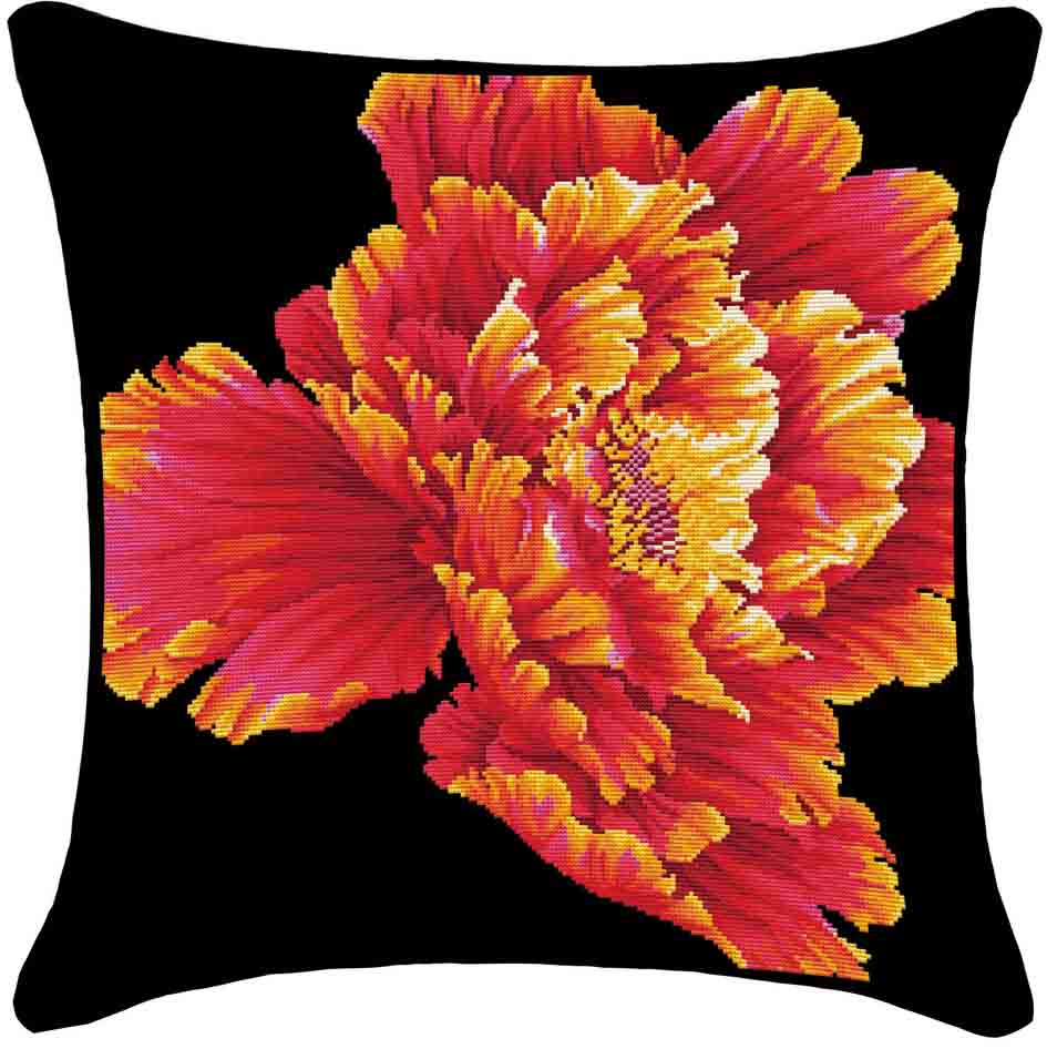 Clearance Sale Multicolor Flower Pattern Square Cotton Throw Pillow Cross Stitch Supplies Wholesale