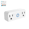 Dual wifi plug Smart Power outlet home appliances Tuya App voice control with Alexa google home ifttt