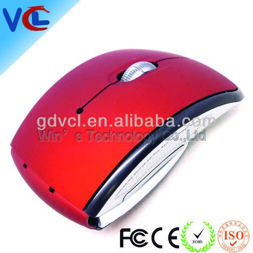 arc foldable optical wireless mouse