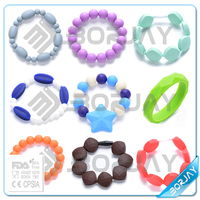 2015 Wholesale Fashion Girls' Food Grade Teething Silicon Bracelet