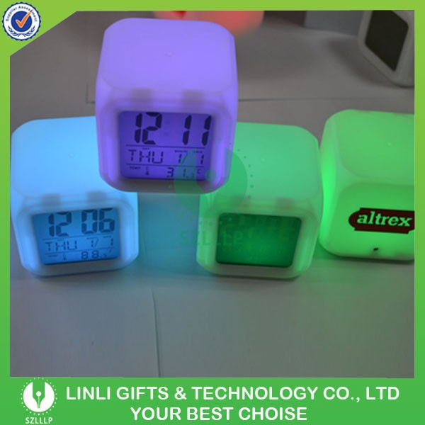 Branded Promotional LED Clock With Logo