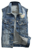 Wholesale New Design Latest Mens Outdoor Denim Vest From China Factory