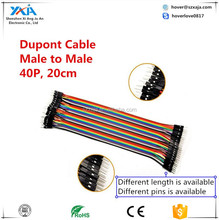 Dupont Wire 40P 2.54MM Cable Female to Female + Male to Female + Male to Male