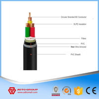 XLPE insluated power cable sheathed with PVC