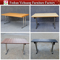 High-quality Melamine Top and Stainless Steel or chromium-plated undercarriage FOLDABLE TABLES used in Germany YC-T188-02