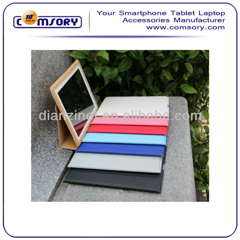 Lower price portable PU stand case For APPLE iPad 2 iPad 3 accept Paypal