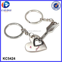 China Wholesale 2015 Hot Sale Valentine Gifts Wedding Favor Custom Lovers Keychain