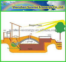 domestic biogas digester/methane gas tank/septic tank