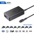 Universal 45W Ultrathin Laptop AC Power Adapter Charger for acer Asus Toshiba Dell Lenovo IBM HP Compaq Samsung Gateway