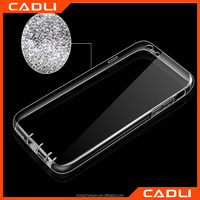 Hot-selling Crystal Clear Transparent Silicon + TPU Mobile phone Case for Iphone 6plus