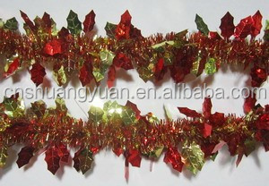 party decoration or wedding decoration, PET christmas garland