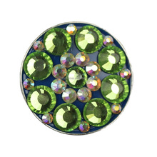Golf magnetic ball marker crystal hat clip ball marker golf ball marker with shiney stone