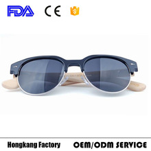 100% bamboo temple Fashion custom bambu polarized eyeglasses men sunglasses