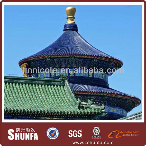 aluzinco roofing tile for chinese antique style buildings