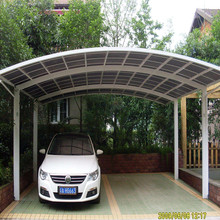 Metal Frame Aluminium Carports Canopy With Roof Polycarbonate Covering Sheet For Sale