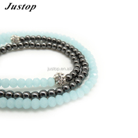 Fashion Globalwin blakc and blue crystal beads jewelry bracelet