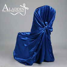 High Quality Self Tie Satin Chair Cover for Wedding Party pillow case chair cover banquet Event Restaurant Universal chair cover