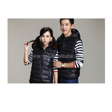 black polyester body warmer vest for gilrs and boy