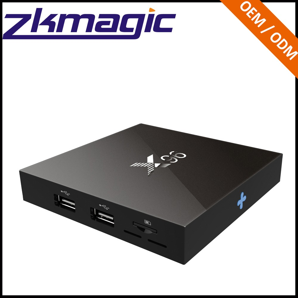 factory price best X96 4K HD WIFI IEEE 802.11 b/g/n 2GB 16GB android tv box with skype camera