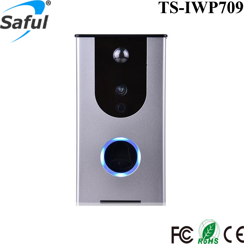 Saful wireless Door Bell rechargable Battery-powered Enabled Video Wifi Doorbell Camera