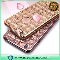 luxurious crystal diamond smartphone case for iphone5 diamond cover with agate