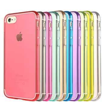 Wholesale colorful ultra thin tpu cell phone case perfect fit for Iphone 7,Transparent soft tpu case for Iphone 7 Plus