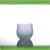 Hand blown colorful hand-blown votive candle holders glass