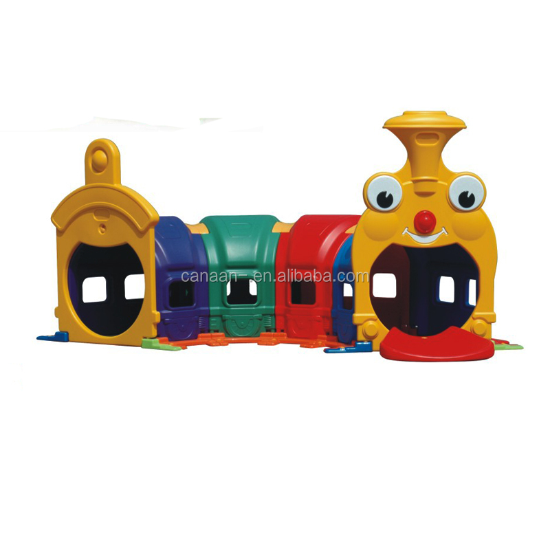 China factory direct kids play happy train tunnel amusement park equipment