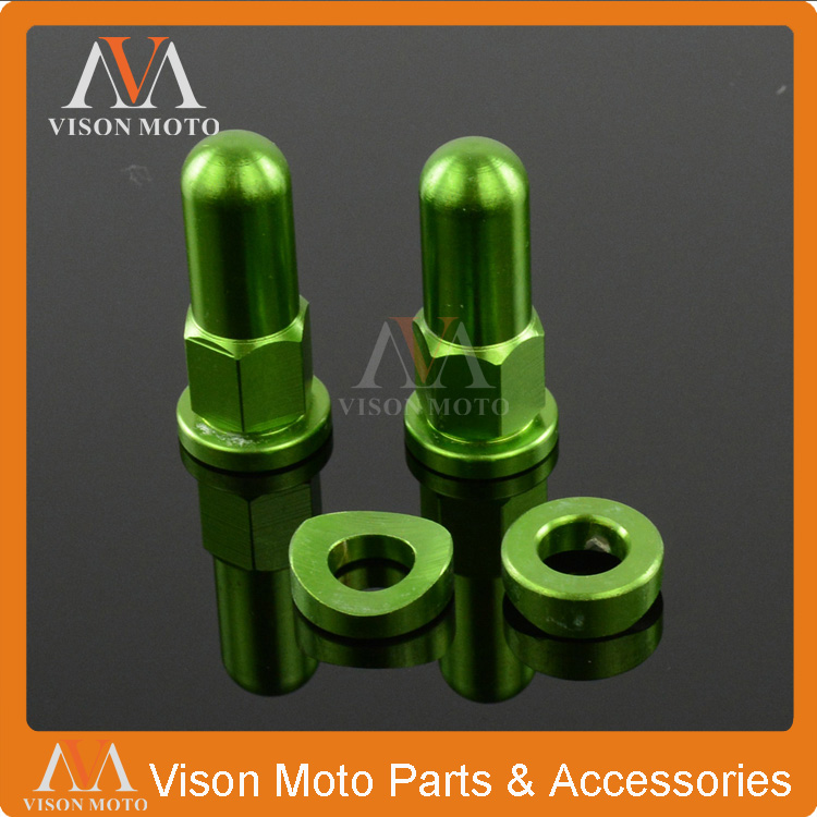 Green Rim Covers Nuts Washers Security Bolts For Kawasaki KX125 KX250 KXF250 KXF450 KLX200 KLX250 Enduro Motocross Dirt Bike