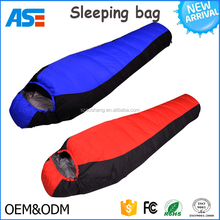 Outdoor Hiking sleeping bag Camping Lightweight Waterproof Mummy Down Sleeping Bag with custom logo
