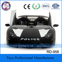 Plastic Police Car RC Game Toys Car For Kids