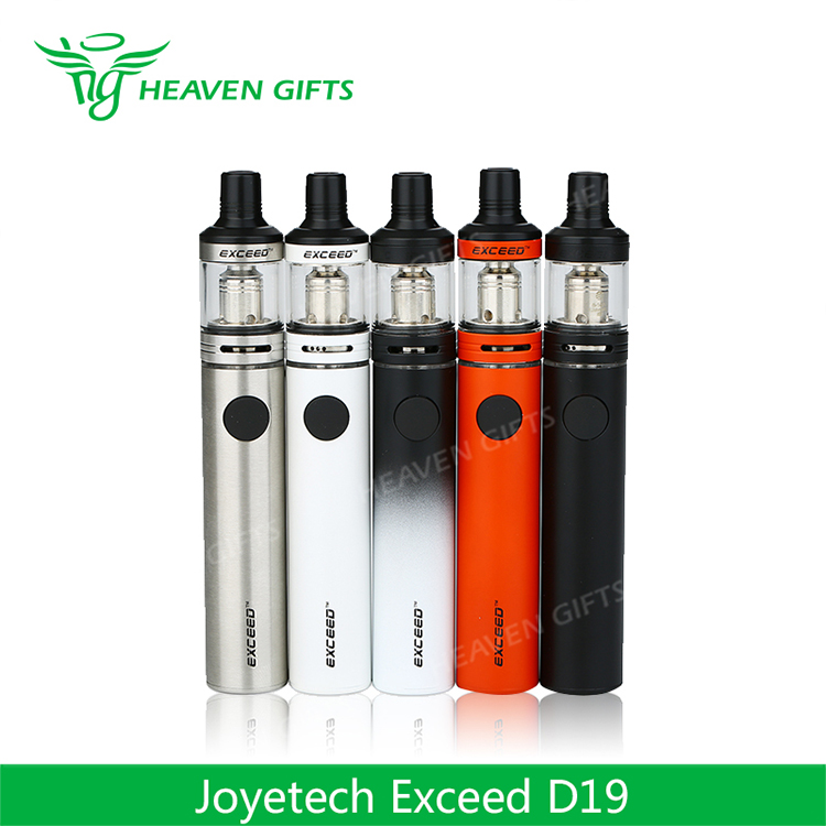 Heaven Gifts Joytech 2ml 1500mAh E cigarette Vaporizer Pen 40W Joyetech Exceed D19 Kit