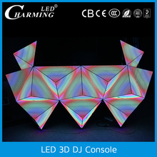 night club dj set led lights wall