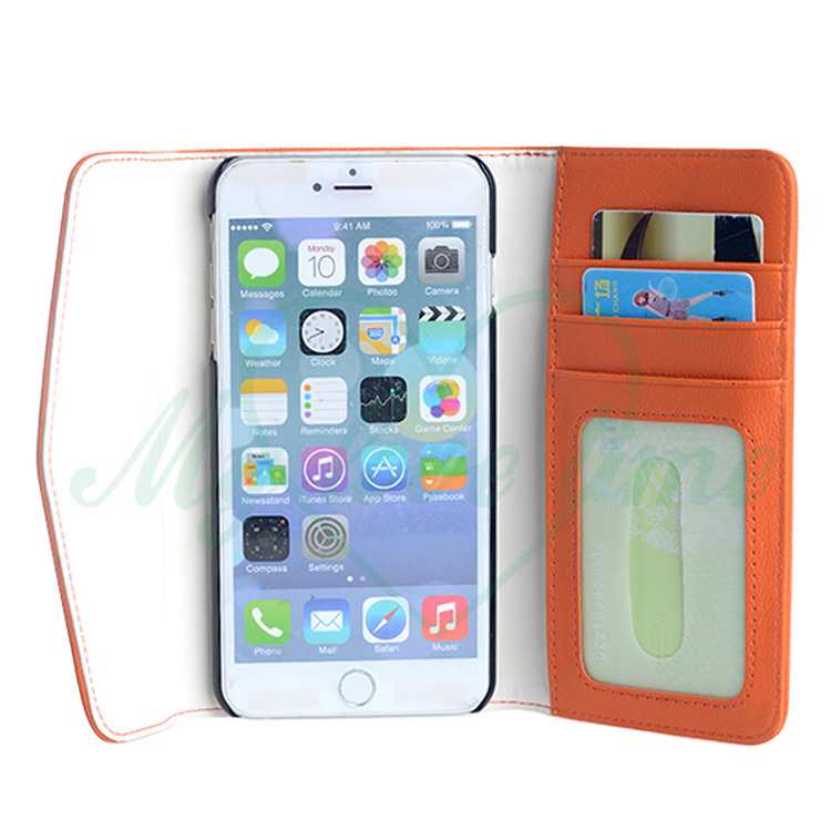 OEM factory wholesale pouch pu leather case for iphone 6 plus