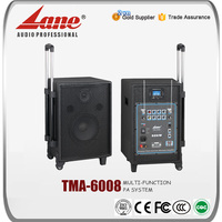 Lane 8 inch active portable pa system amplifier speaker TMA-6008