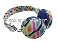 Fashion colorful noise cancelling microphone bluetooth headphone