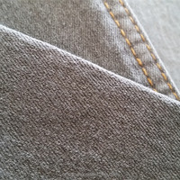 7.5OZ cotton poly stretch woven grey color denim fabric