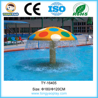 Kids water play equipment raining mushroom water play games