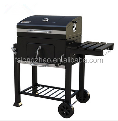 Adjustable height bbq charcoal grill
