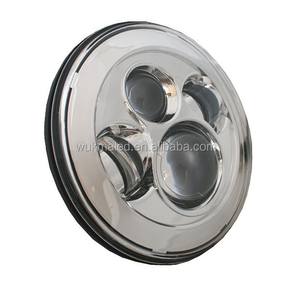 4D New Design front jeep headlamp 45w led headlight, 7inch LED Round Headlamp For wrangler