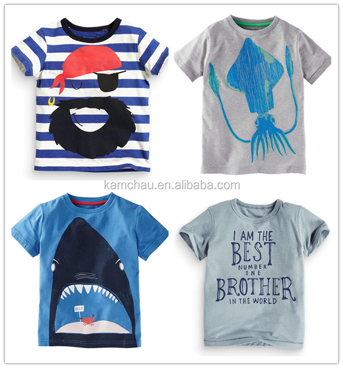 Quick Delivery Short Sleeves children sublimation custom logo printed t shirt for promotion