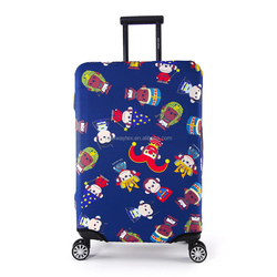 RW-LC-008 Fashion Custom Circus Monkey Pattern Waterproof Durable Spandex Stretchable Suitcase Luggage Protector Dust Cover