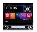 Winmark 7 Inch 1 Din Car Navi DVD Player Stereo With Motorized Retractable Monitor GPS Bluetooth Radio Mirror-Link Universal