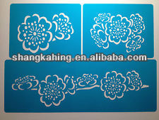 PP Mylar wall Stencils or laser cutting PET Stencils Custom Drawing painting Stencils made in proessional China factory supplier