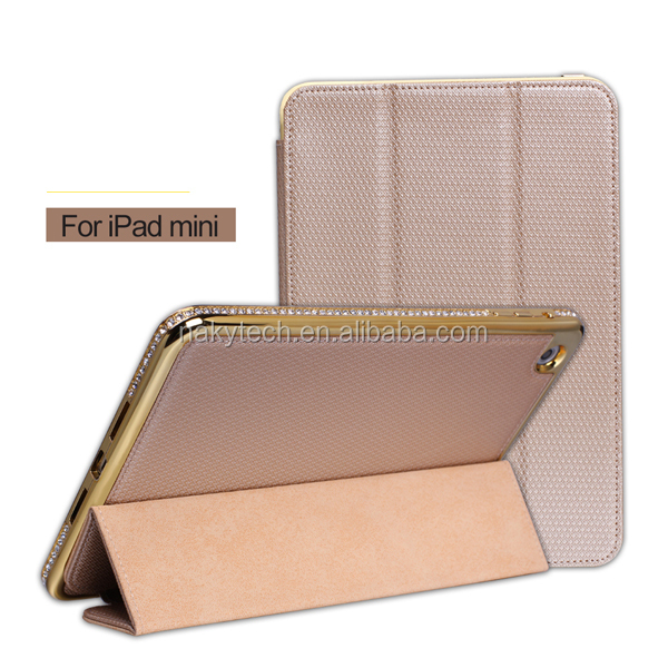 Diamond Bumper Metal Aluminum Bumper Case Cover For iPad mini